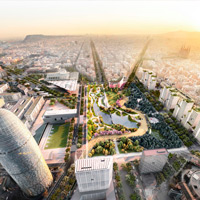 Results of the Competition for the Glories Square in Barcelona