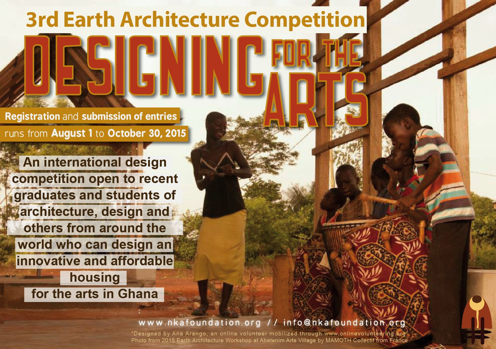 3rd earth architecture competition designing for the arts the
